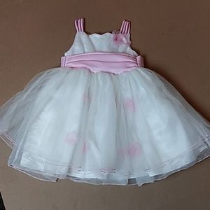 Bonnie Jean 3/3T Pink/Wht Fancy Dress Tulle Bottom